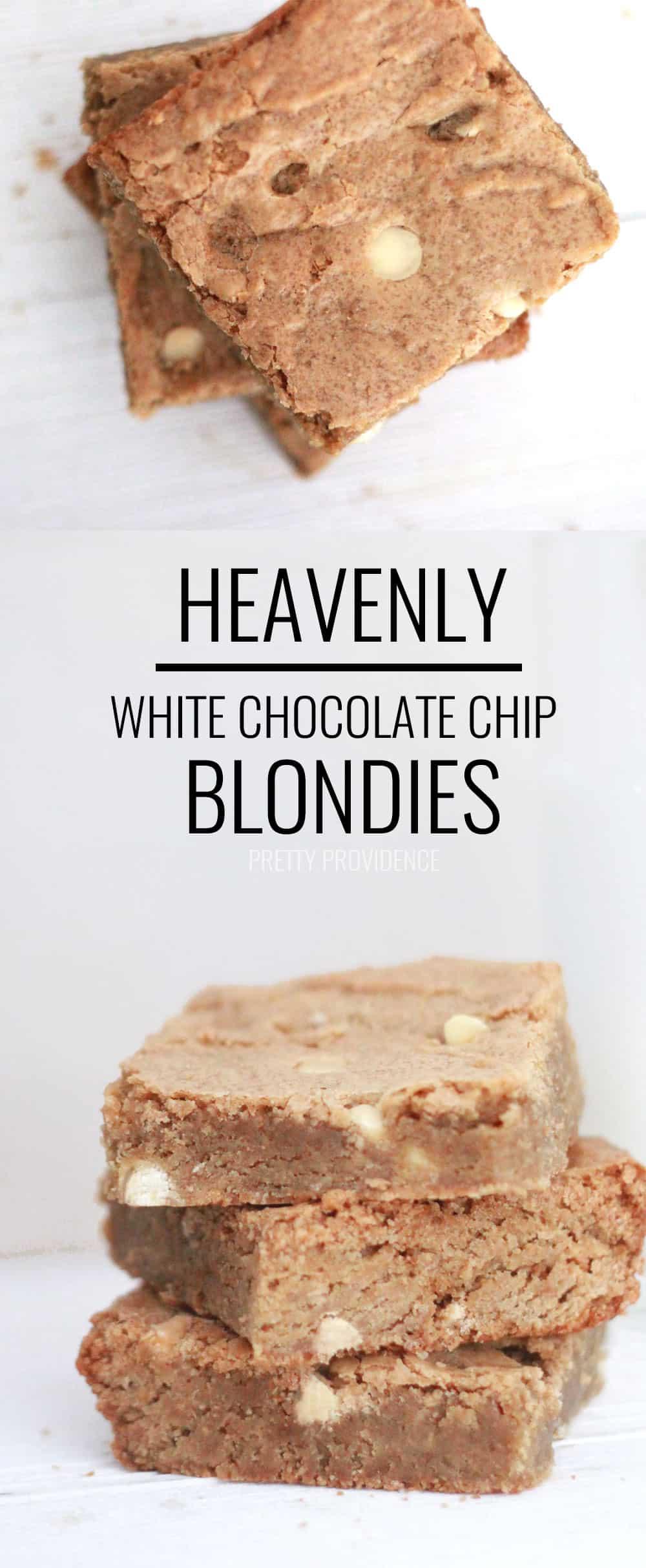 White Chocolate Chip Blondie Recipe