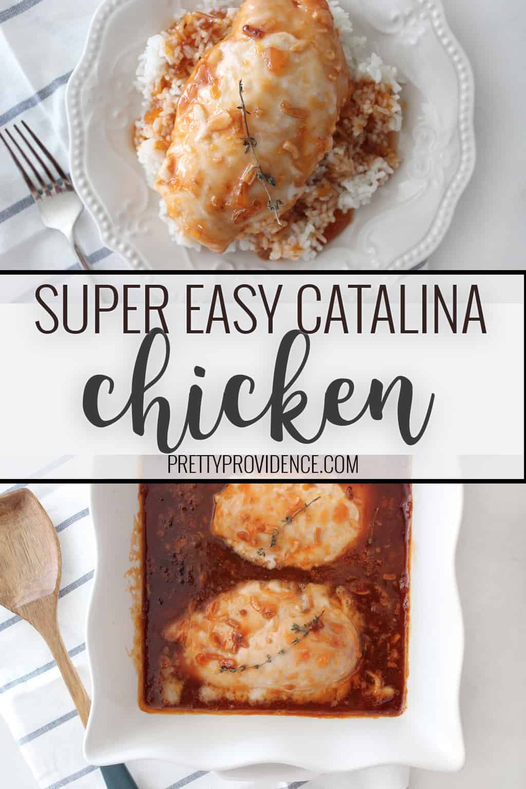 You will love this Catalina Chicken recipe! It is quick, easy, and such a delicious way to make chicken!