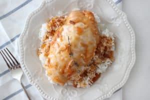 Catalina chicken over rice.