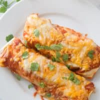 Easy freezable creamy beef enchiladas!