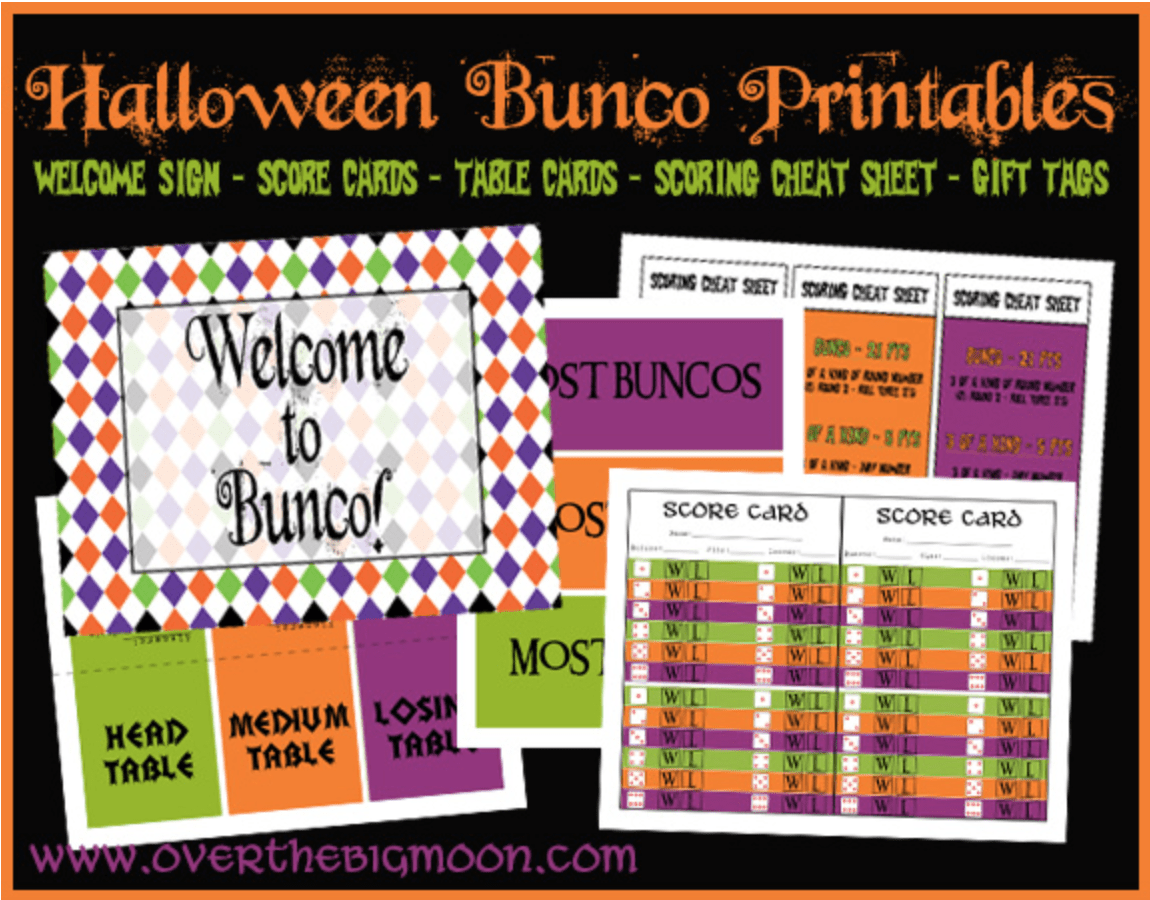 Fall and Halloween Free Printables at Over The Big Moon Pretty