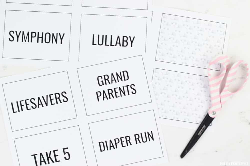 Candy Bar Baby Shower Game Printable