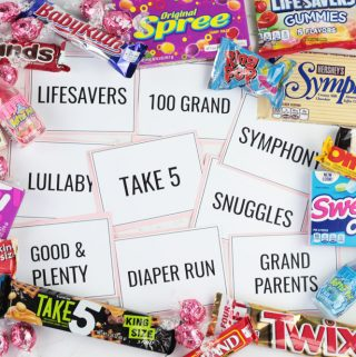 Candy Bar Matching Game Free Printable
