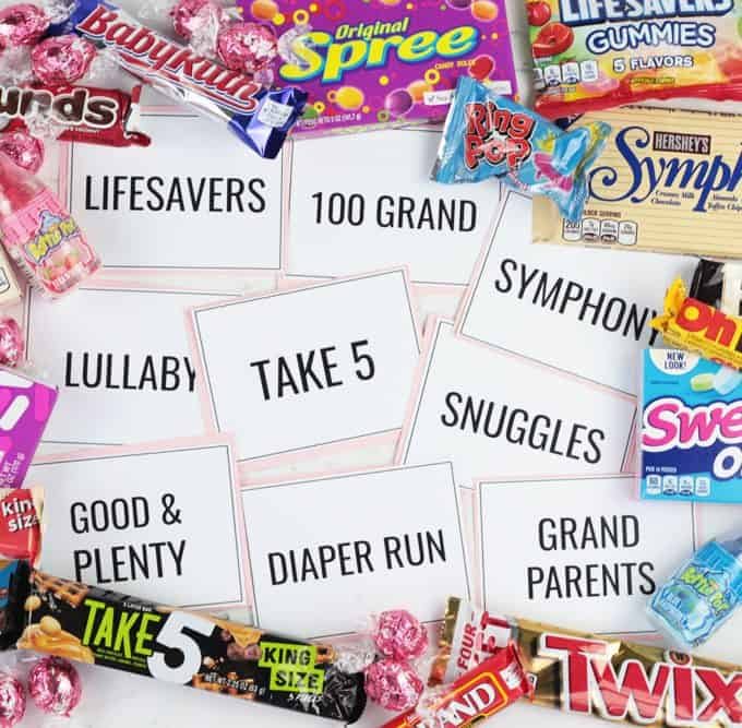 Candy Bar Baby Shower Matching Game