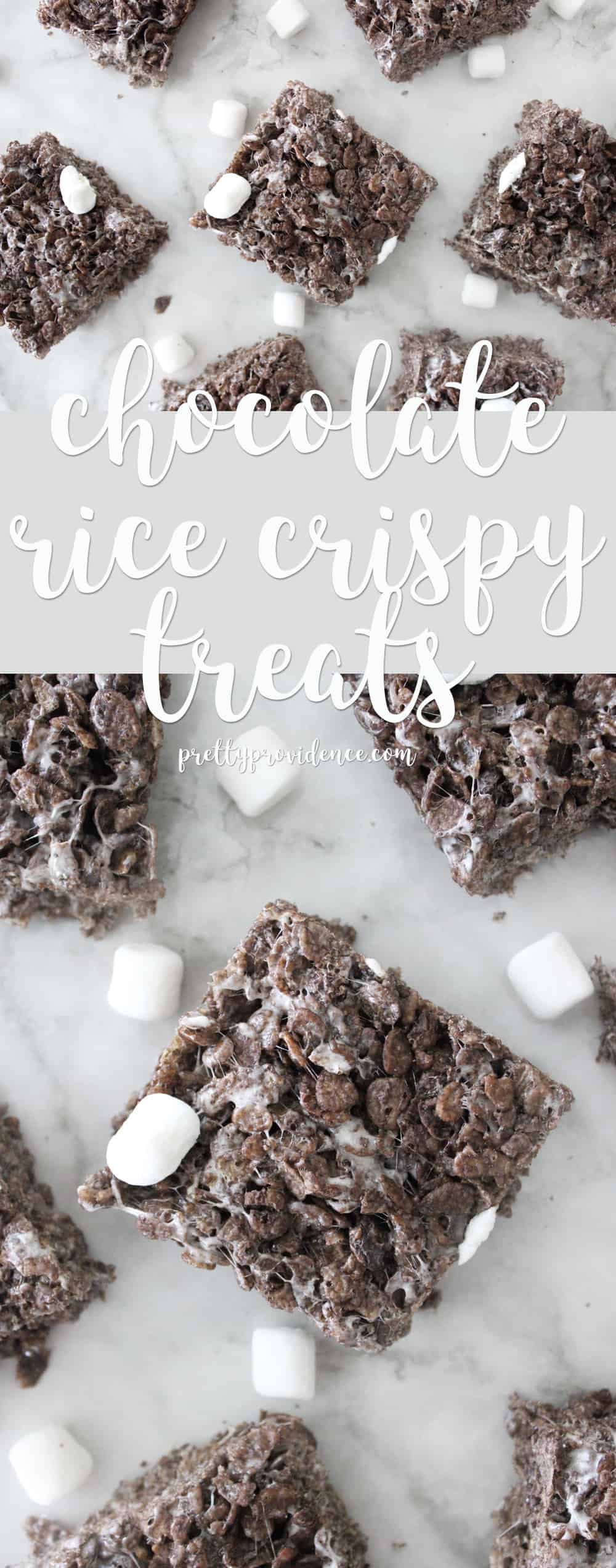 Super easy and delicious chocolate rice crispy treats! Perfect summer treat for when you don't want to turn on those ovens!