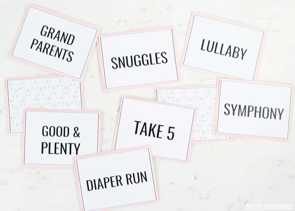 Matching Game for Baby Shower