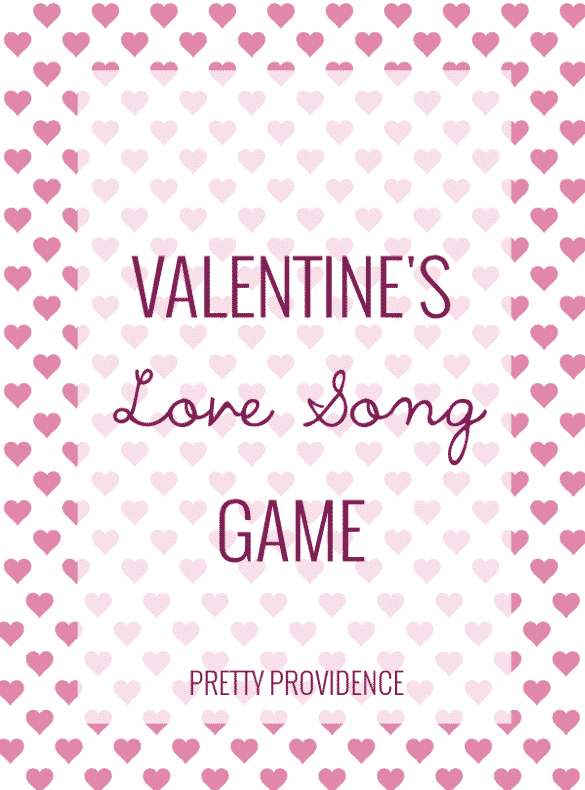 love song game for valentine's day!