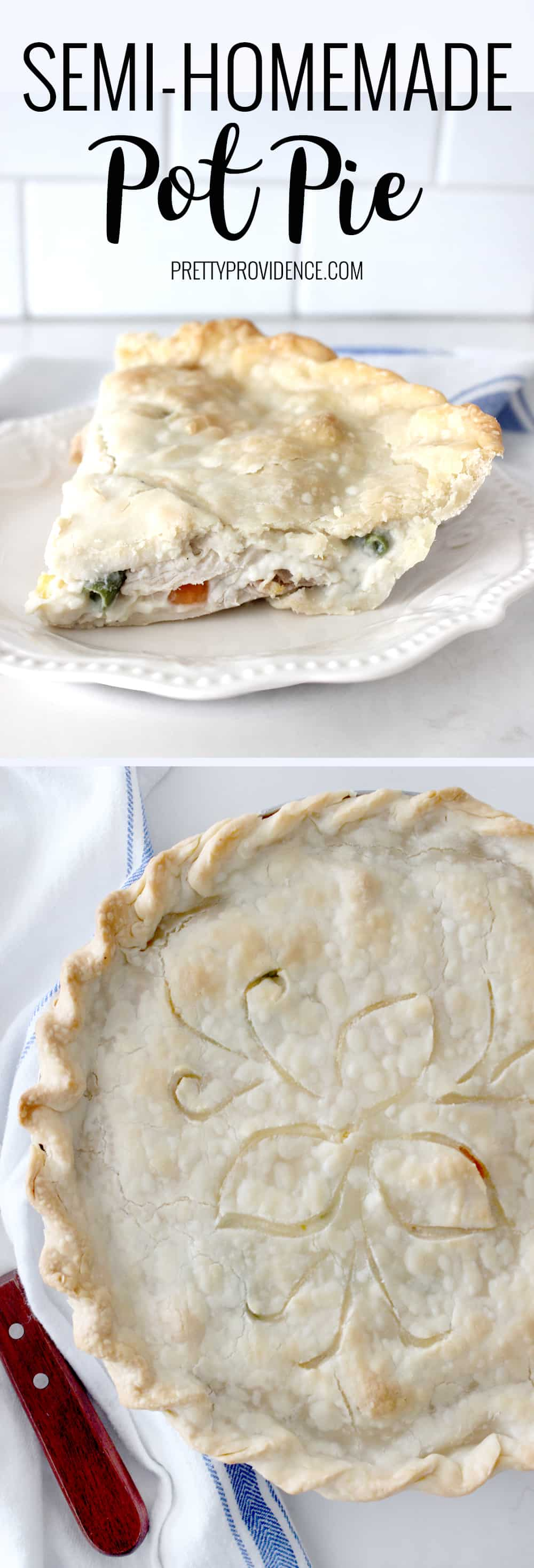 You will love this semi-homemade pot pie! It has all the hearty delicious flavors a homemade pot pie has, with minimal effort!