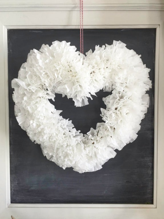 Valentine's Day Wreath from Coffee Filters