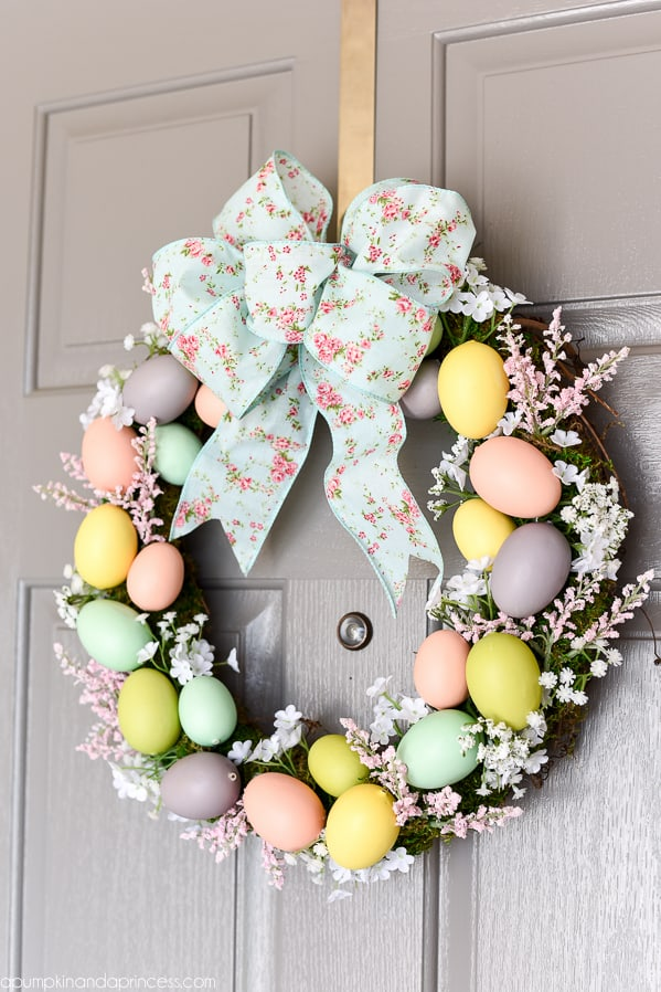 Easter Egg Wreath from A Pumpkin and a Princess