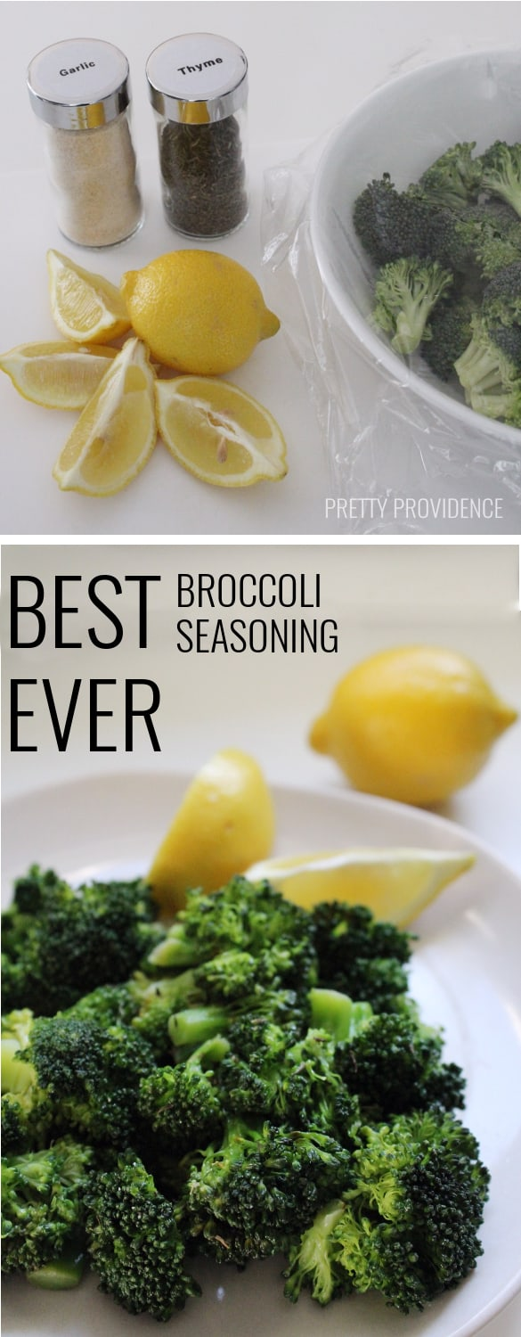 Best Broccoli Seasoning EVER! I am serious it's amazing!