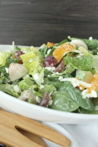 Okay this is my ABSOLUTE FAVORITE SALAD of all time! Literally so delicious and so easy to throw together! The perfect pairing of sweet and salty flavors, so good!