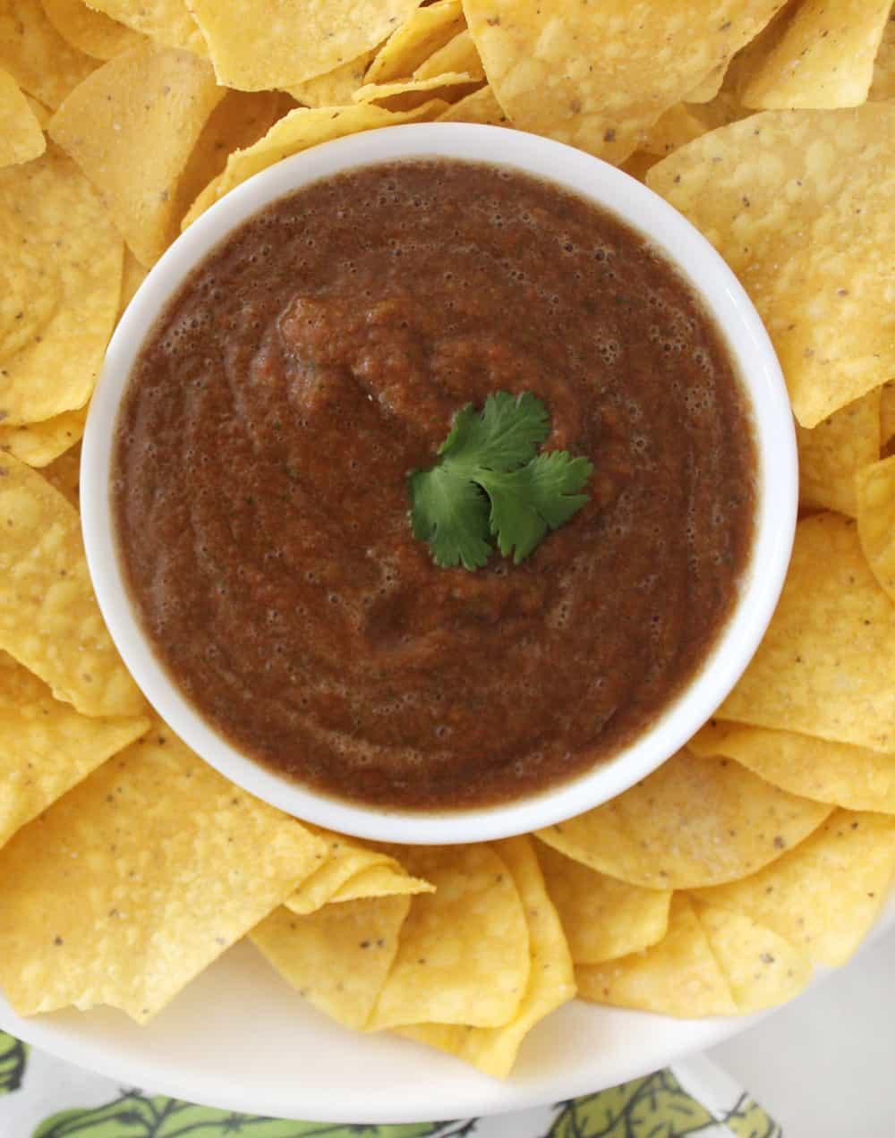easy blender salsa ready to go