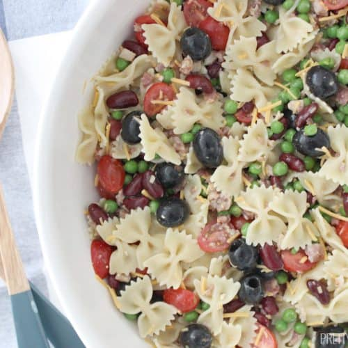 Once you've tasted this bowtie pasta salad you won't be able to imagine life without it! I am a pasta salad fanatic and it's my favorite pasta salad recipe!