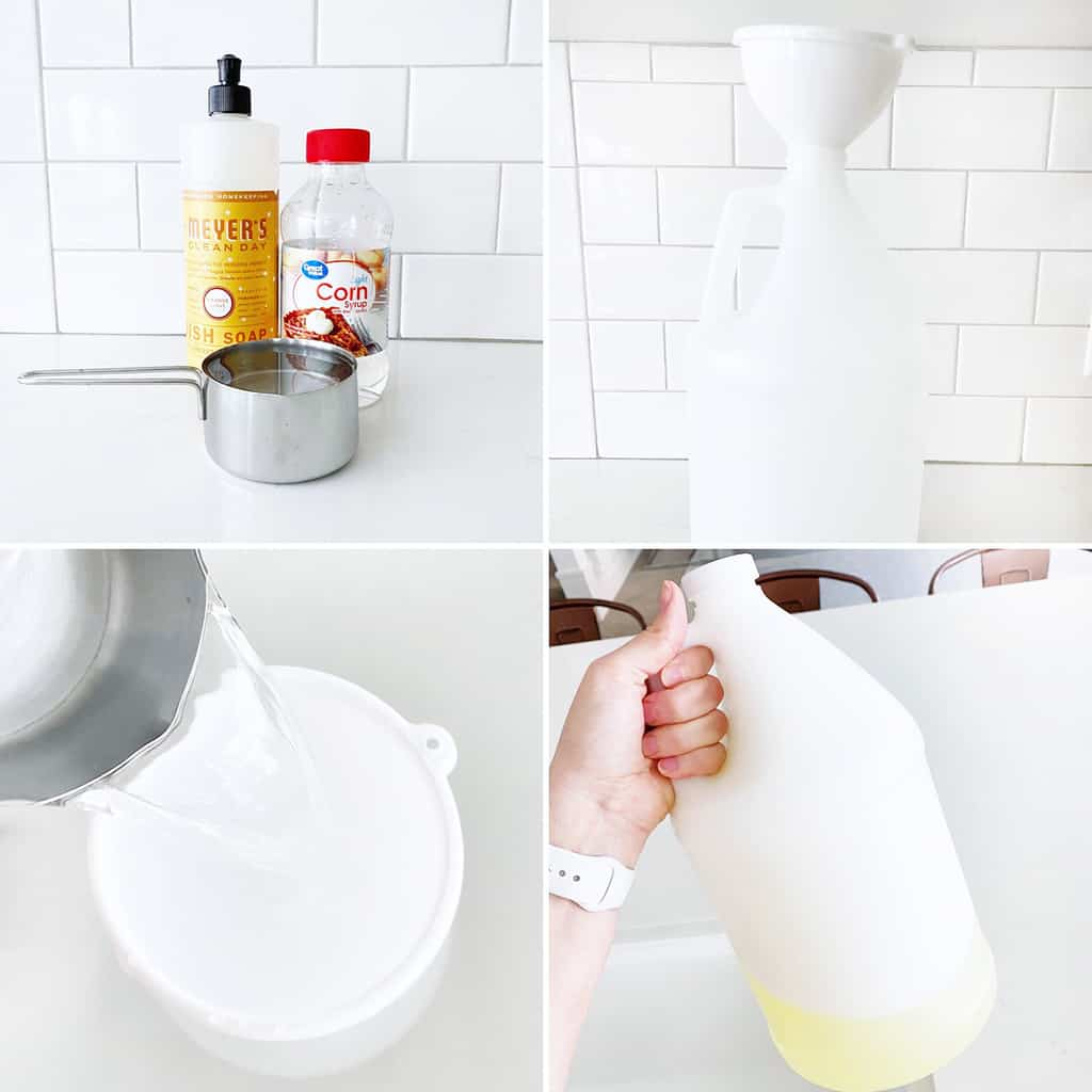step by step collage for how to make bubbles