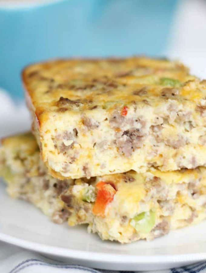 This is literally the world's best breakfast casserole! Chock full of sausage, eggs, cheese and everything good!