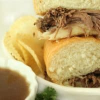 Okay these crock-pot french dip sandwiches are unbelievably good! Literally so easy and they taste amazing! They are my go-to when I'm having company, and everyone always raves about them. Five stars, for sure.