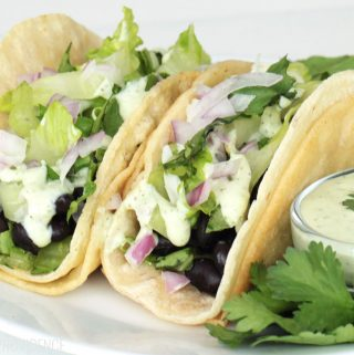 These black bean tacos are a quick, healthy and easy dinner!