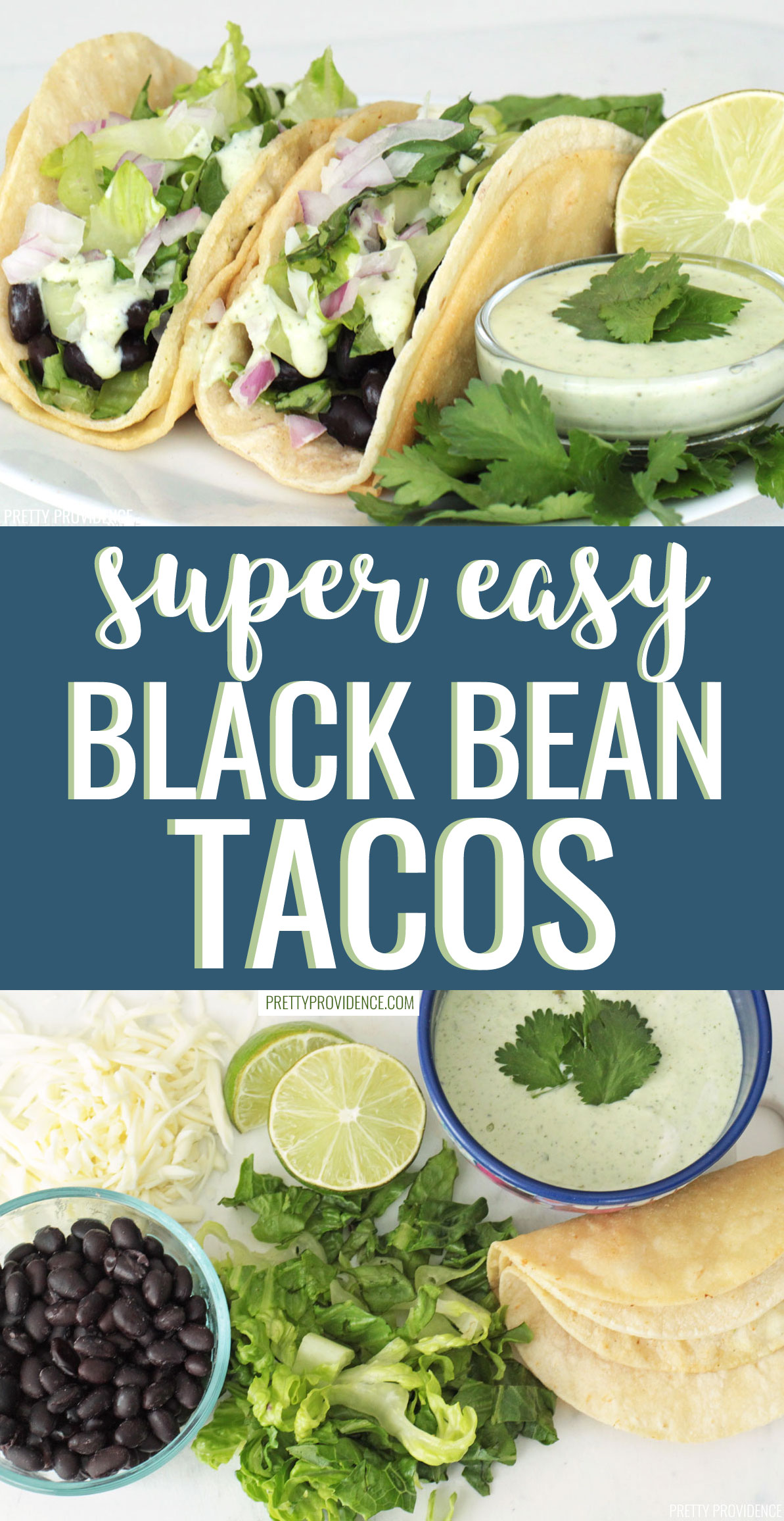 Healthy black bean tacos recipe that taste absolutely amazing! The spicy ranch gives them tons of flavor. Only 215 calories each!