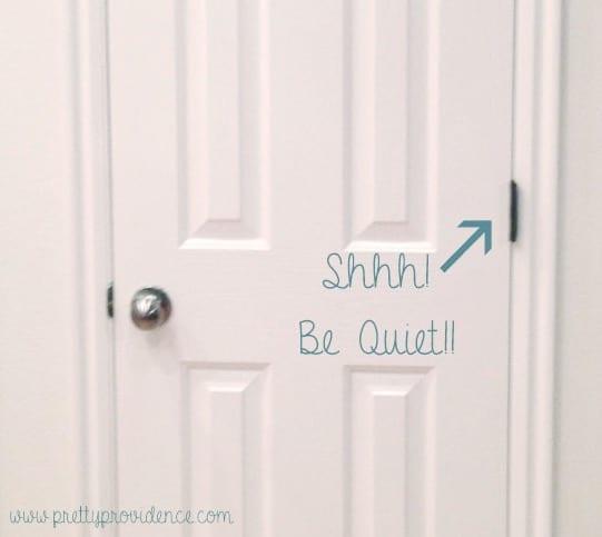 How to De-Squeak Your Doors - I never knew this! So EASY!