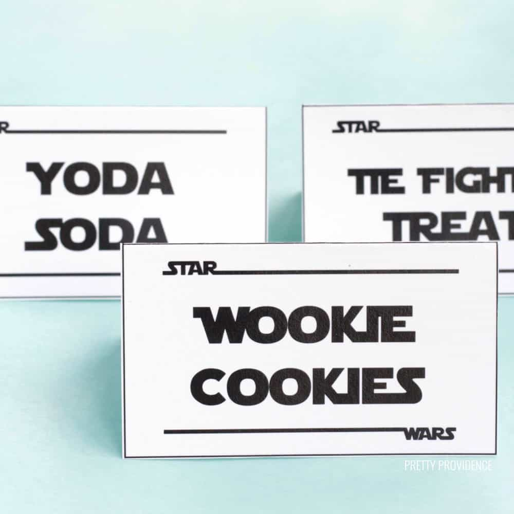 Star Wars Food Labels Free Printable