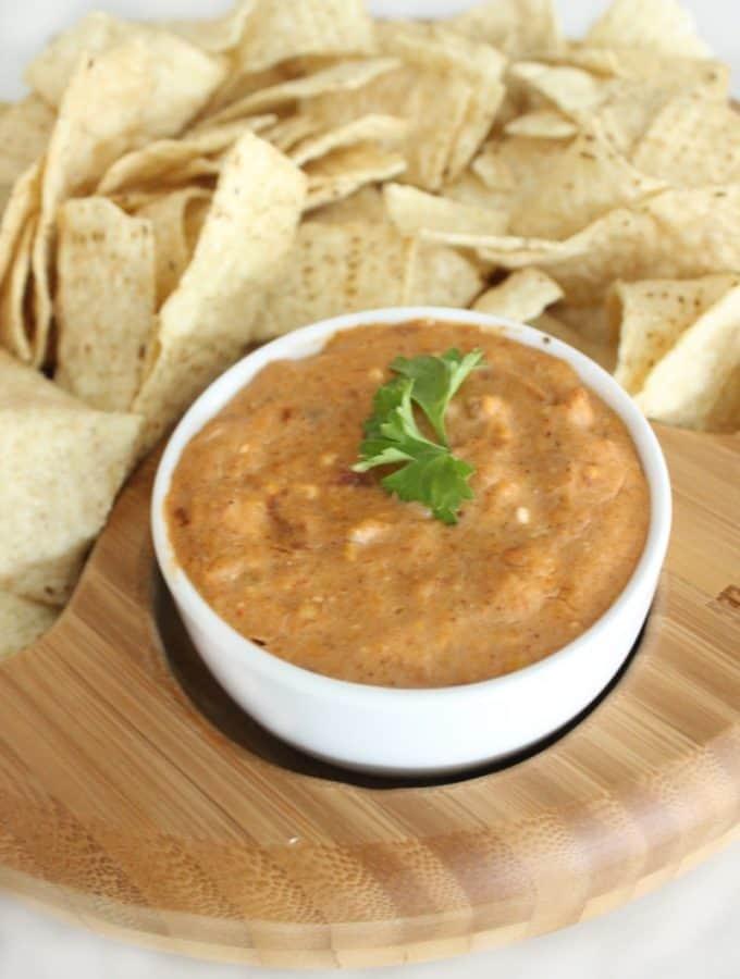 Cheesy Crock-Pot Bean Dip