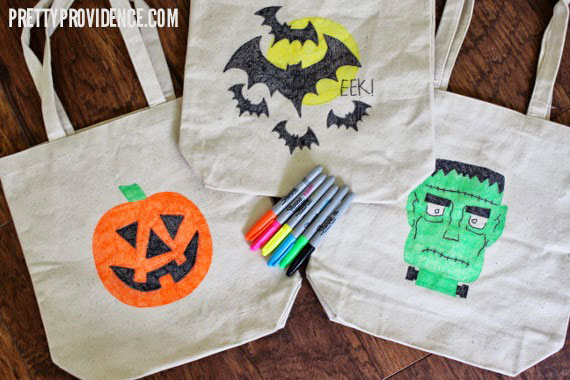 Three DIY Trick or Treat Bags Easy Halloween Craft