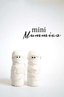 Cute Mini Mummies halloween decoration!