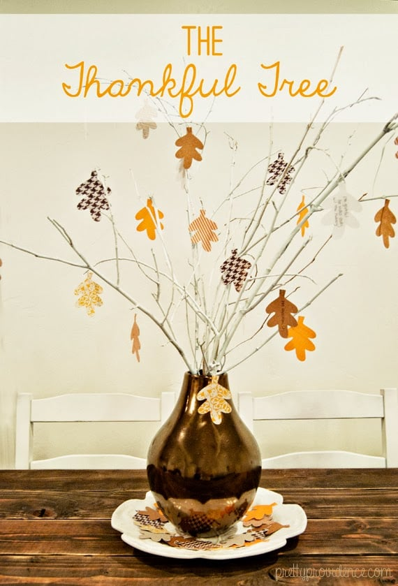 thanksgiving table centerpiece: thankful tree, fun family tradition for thanksgiving