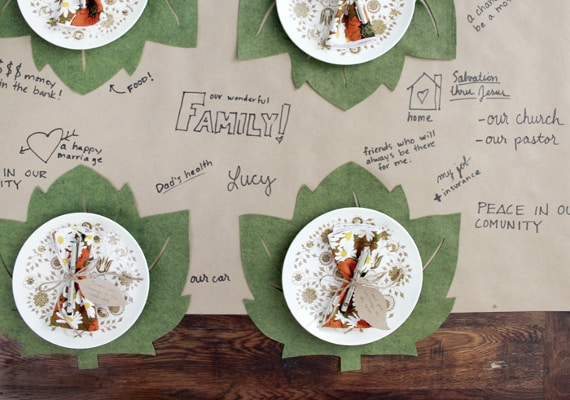 thanksgiving table: easy felt placemats