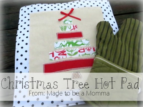 easy sewing project: christmas hot pads!
