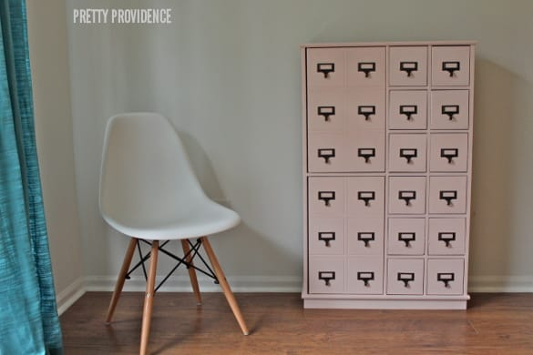painted card catalog cabinet!