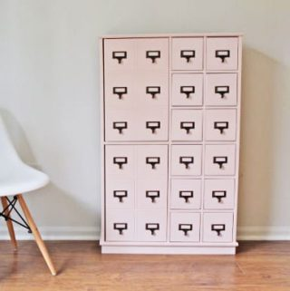Refinished Pink Card Catalog