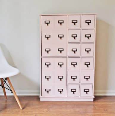 DIY: refinished card catalog