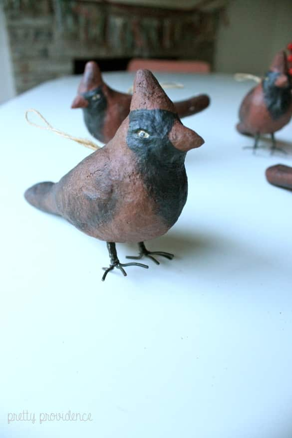 bird Christmas decoration (before gold spray paint)