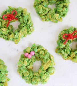 Christmas cornflake wreaths- YUM!
