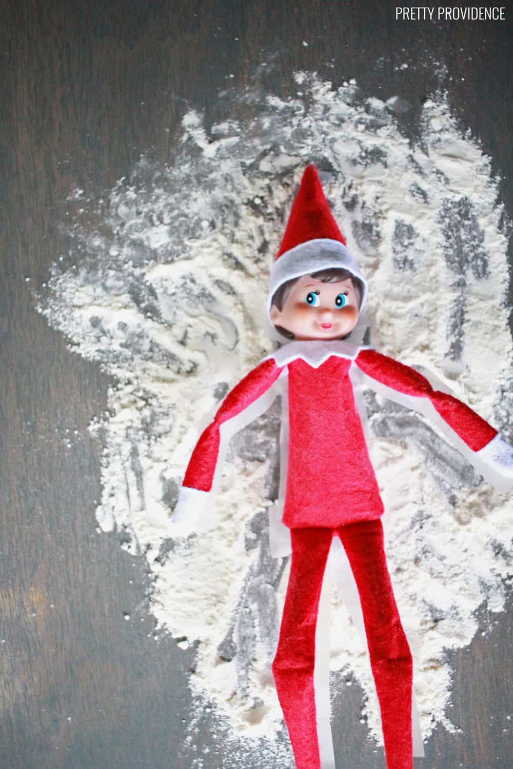 Elf on the shelf Mischievous Ideas - Flour
