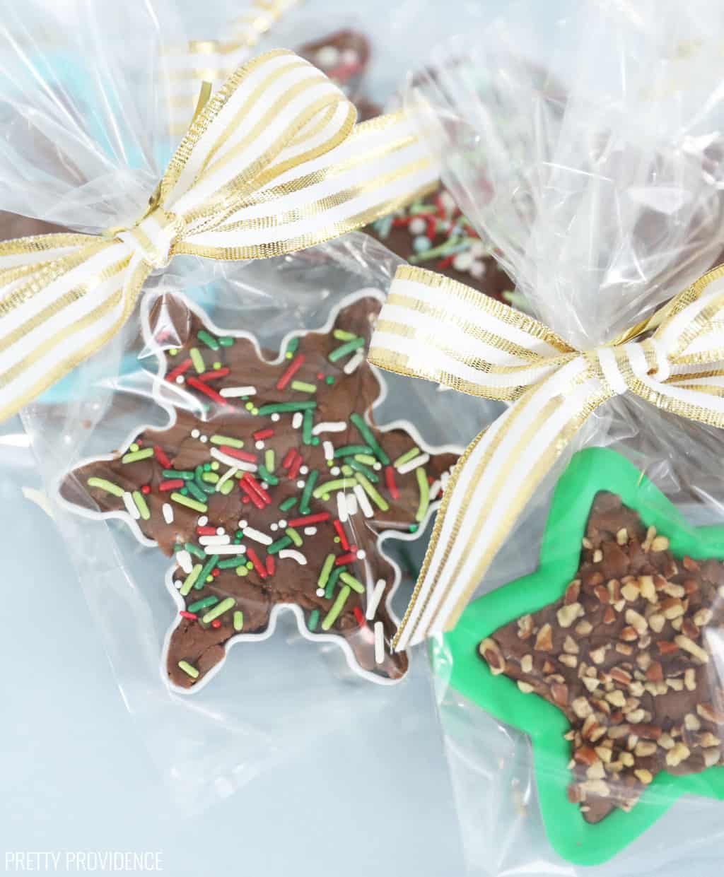 Fudge filled cookie cutters!