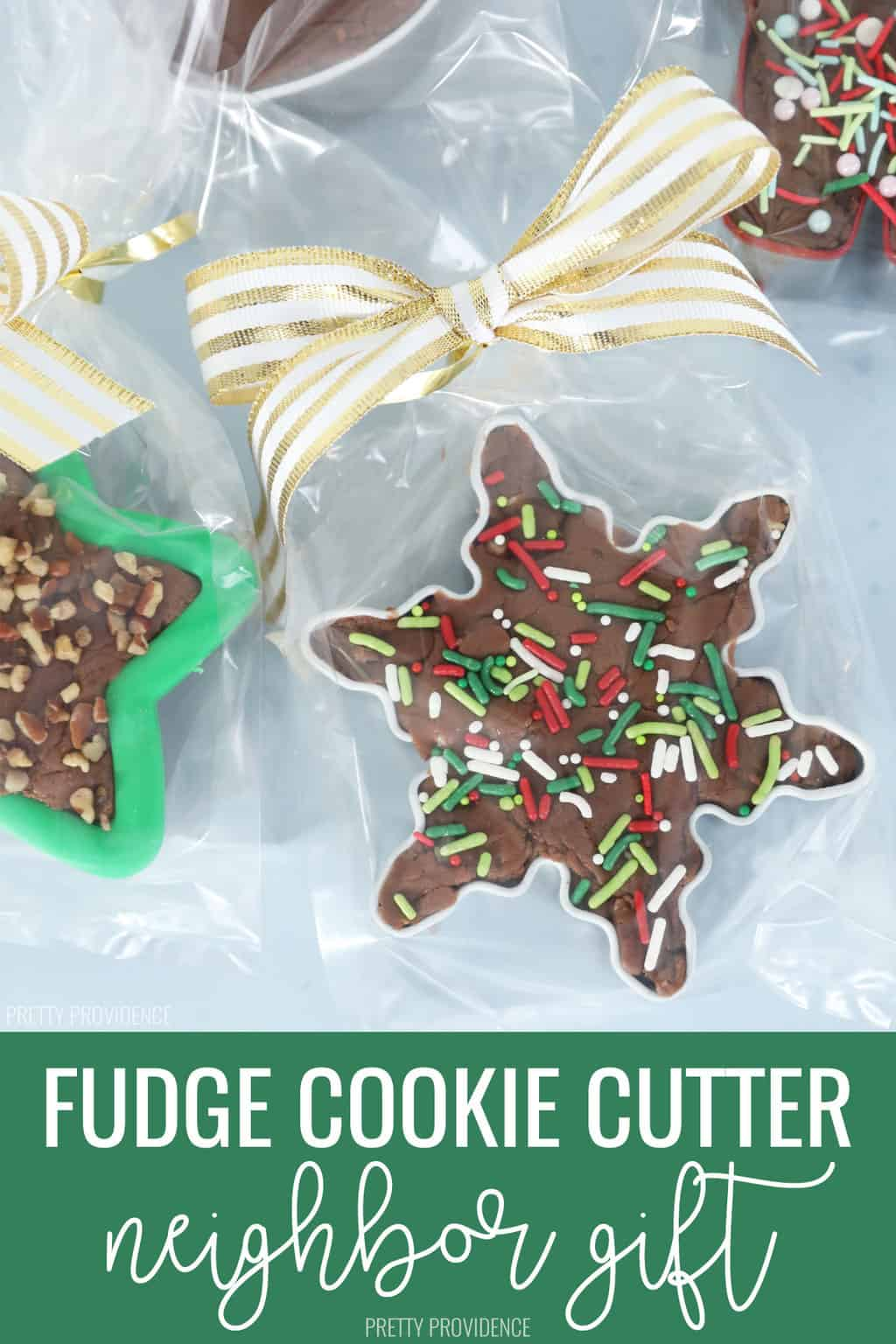Fudge filled cookie cutters, a perfect holiday gift!