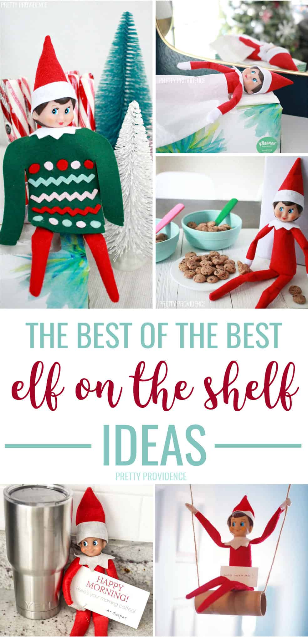 The best Elf on the Shelf ideas ever! These are cheap and easy things to do with your funny and mischievous elf! #elfontheshelf #elfontheshelfideas #elf #christmas #christmasideas #funforkids