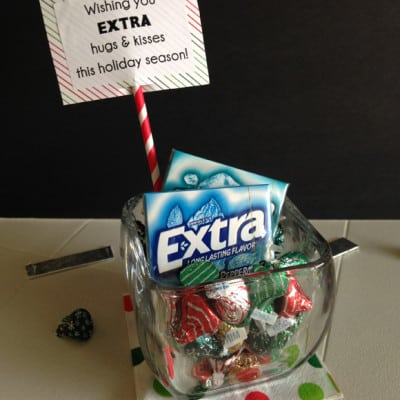 holiday neighbor gift idea with extra gum