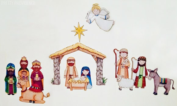 Magnetic Nativity Set for Kids