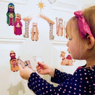 DIY Magnetic Nativity Set