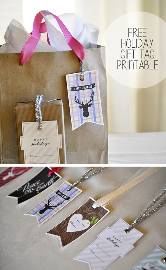Free Printable Holiday Gift Tags!