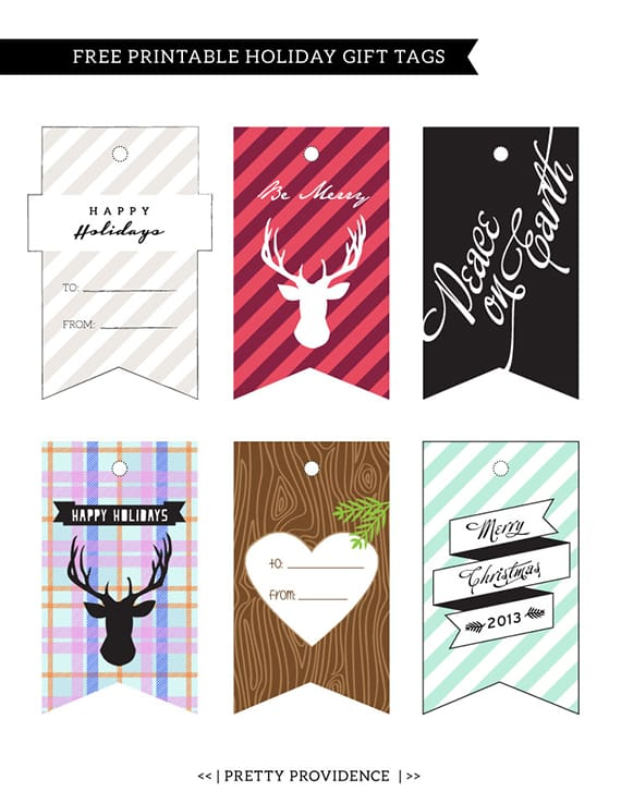 graphic regarding Printable Holiday Tags identify Free of charge Printable Holiday vacation Present Tags Rather Providence