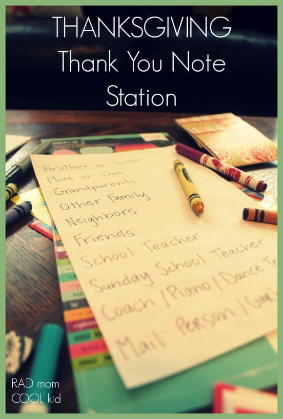 thank you note station