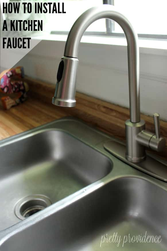 installing new kitchen faucet how to install a kitchen faucet step by step tutorial 1764