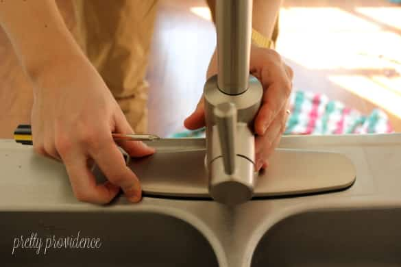 how to install a kitchen faucet step by step tutorial