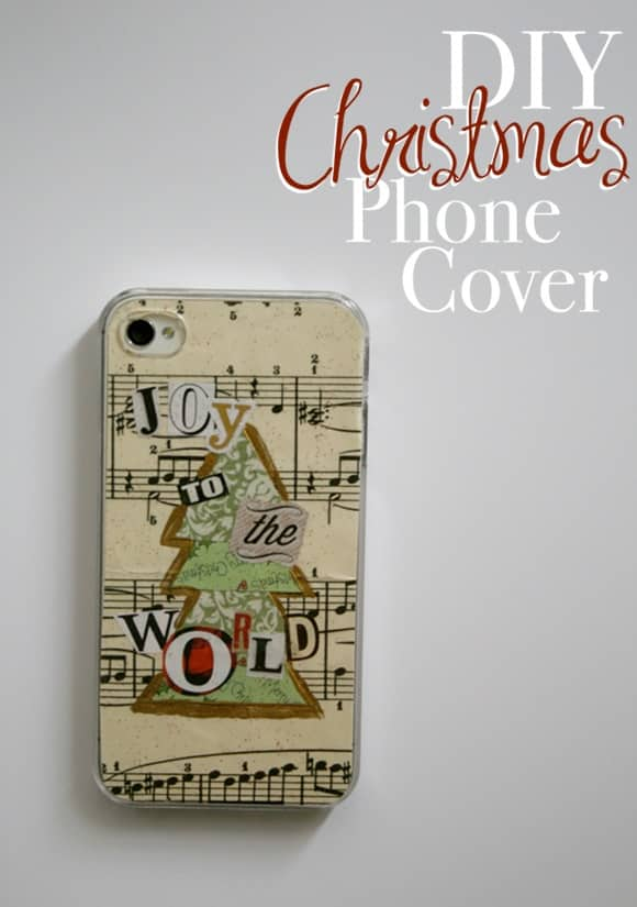 Phone Book Cover Diy : Diy christmas collage phone cover pretty providence