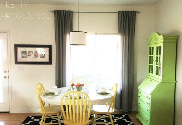 Dining room makeover on a tiny budget!